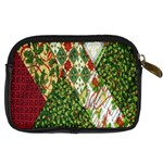 Christmas Quilt Background Digital Camera Cases Back