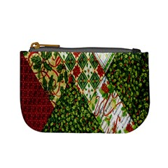Christmas Quilt Background Mini Coin Purses
