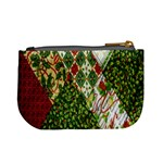 Christmas Quilt Background Mini Coin Purses Back