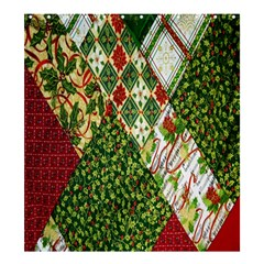 Christmas Quilt Background Shower Curtain 66  x 72  (Large)