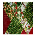 Christmas Quilt Background Shower Curtain 66  x 72  (Large)  58.75 x64.8 Curtain