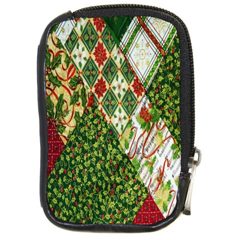 Christmas Quilt Background Compact Camera Cases