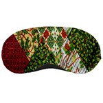 Christmas Quilt Background Sleeping Masks Front