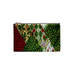 Christmas Quilt Background Cosmetic Bag (Small)  Front