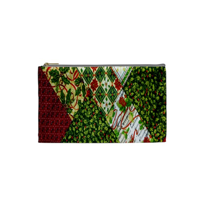 Christmas Quilt Background Cosmetic Bag (Small)