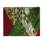 Christmas Quilt Background Cosmetic Bag (XL) Back