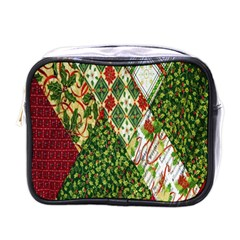 Christmas Quilt Background Mini Toiletries Bags