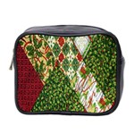 Christmas Quilt Background Mini Toiletries Bag 2-Side Front