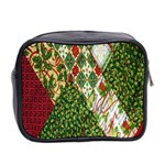 Christmas Quilt Background Mini Toiletries Bag 2-Side Back