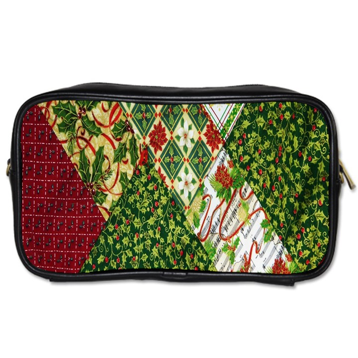 Christmas Quilt Background Toiletries Bags 2-Side