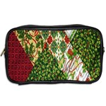 Christmas Quilt Background Toiletries Bags 2-Side Back
