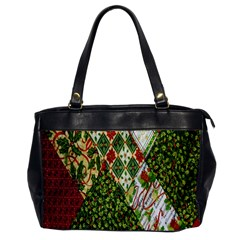 Christmas Quilt Background Office Handbags