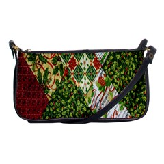 Christmas Quilt Background Shoulder Clutch Bags