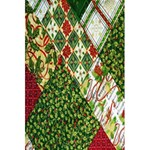 Christmas Quilt Background 5.5  x 8.5  Notebooks Back Cover Inside