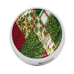 Christmas Quilt Background 4-Port USB Hub (One Side)