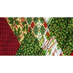 Christmas Quilt Background Magic Photo Cubes Long Side 1