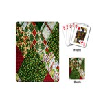 Christmas Quilt Background Playing Cards (Mini)  Back