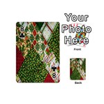 Christmas Quilt Background Playing Cards 54 (Mini)  Front - Club8