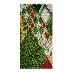 Christmas Quilt Background Shower Curtain 36  x 72  (Stall)