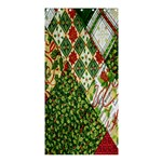 Christmas Quilt Background Shower Curtain 36  x 72  (Stall)  33.26 x66.24 Curtain