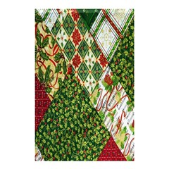 Christmas Quilt Background Shower Curtain 48  x 72  (Small)