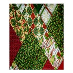 Christmas Quilt Background Shower Curtain 60  x 72  (Medium)  54.25 x65.71 Curtain
