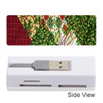 Christmas Quilt Background Memory Card Reader (Stick)  Front