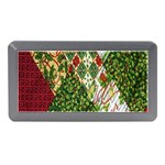 Christmas Quilt Background Memory Card Reader (Mini) Front