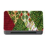 Christmas Quilt Background Memory Card Reader with CF Front