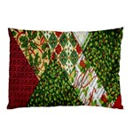 Christmas Quilt Background Pillow Case (Two Sides) Back