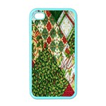 Christmas Quilt Background Apple iPhone 4 Case (Color) Front