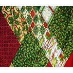 Christmas Quilt Background Deluxe Canvas 14  x 11  14  x 11  x 1.5  Stretched Canvas