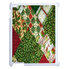 Christmas Quilt Background Apple iPad 2 Case (White)