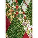 Christmas Quilt Background BOY 3D Greeting Card (7x5) Inside