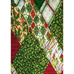 Christmas Quilt Background Heart 3D Greeting Card (7x5) Inside