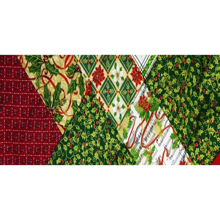 Christmas Quilt Background YOU ARE INVITED 3D Greeting Card (8x4)