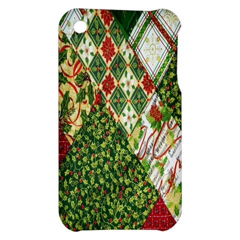 Christmas Quilt Background Apple iPhone 3G/3GS Hardshell Case