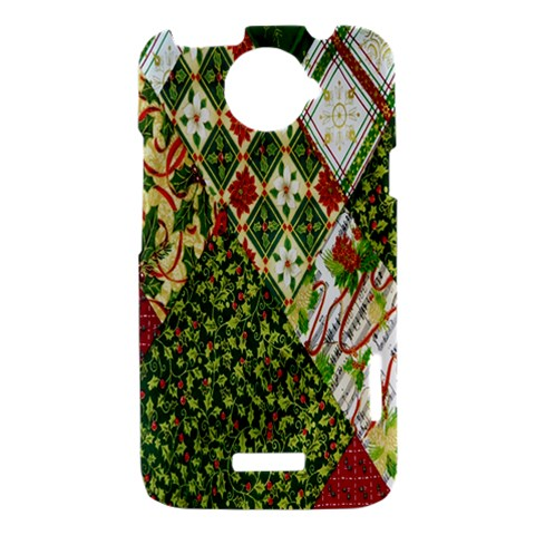 Christmas Quilt Background HTC One X Hardshell Case