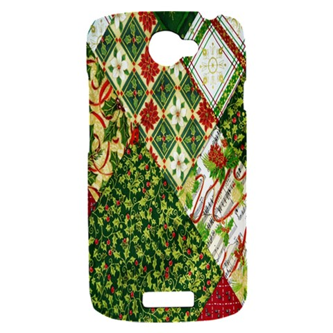 Christmas Quilt Background HTC One S Hardshell Case