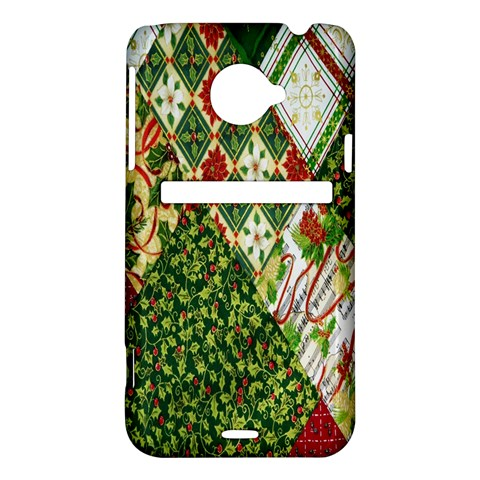 Christmas Quilt Background HTC Evo 4G LTE Hardshell Case