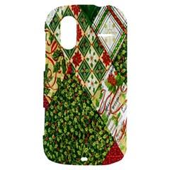 Christmas Quilt Background HTC Amaze 4G Hardshell Case