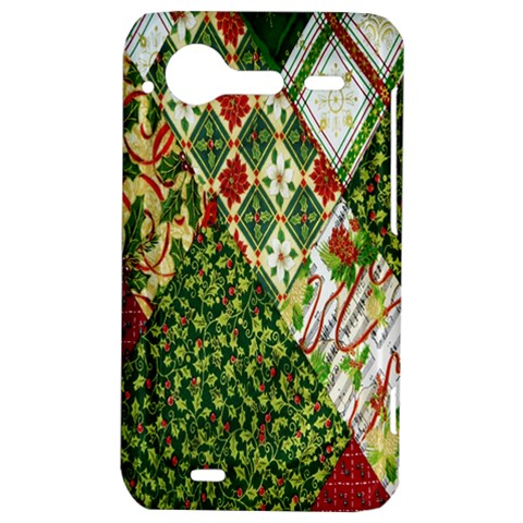 Christmas Quilt Background HTC Incredible S Hardshell Case