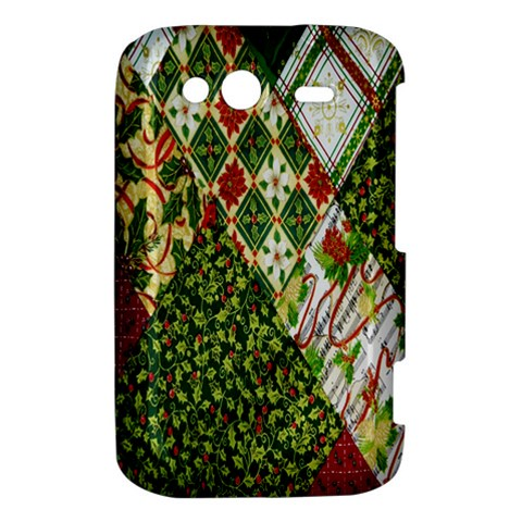 Christmas Quilt Background HTC Wildfire S A510e Hardshell Case