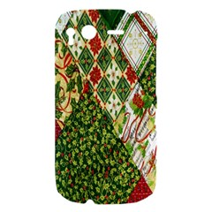 Christmas Quilt Background HTC Desire S Hardshell Case