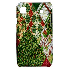 Christmas Quilt Background Samsung Galaxy S i9000 Hardshell Case