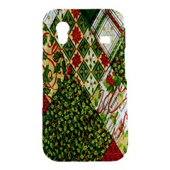 Christmas Quilt Background Samsung Galaxy Ace S5830 Hardshell Case