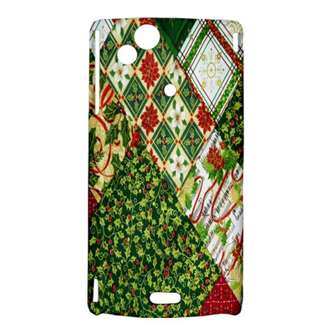 Christmas Quilt Background Sony Xperia Arc