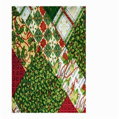 Christmas Quilt Background Small Garden Flag (Two Sides)