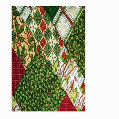 Christmas Quilt Background Large Garden Flag (Two Sides)