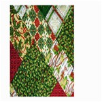 Christmas Quilt Background Large Garden Flag (Two Sides) Front